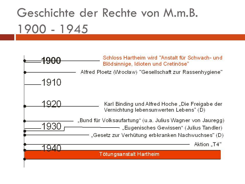 Geschichte der Rechte von M.m.B. 1945 - heute