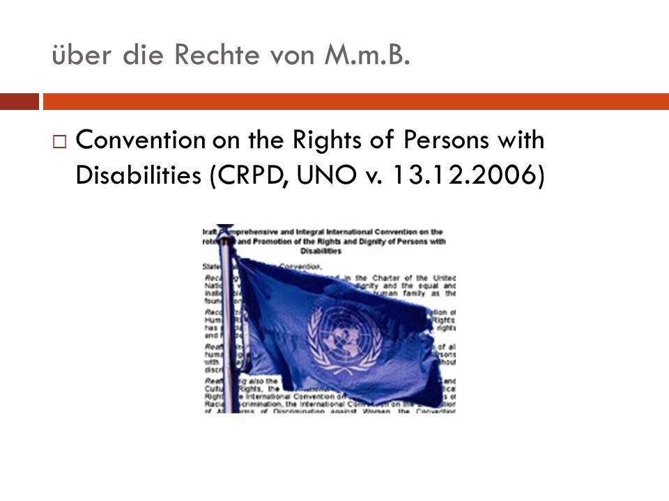 über die Rechte von M.m.B. Das österreichische Parlament beschließt:
