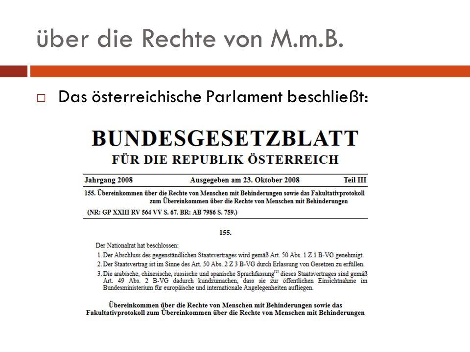 über die Rechte von M.m.B.Information in zugänglichen Formaten: z.B.