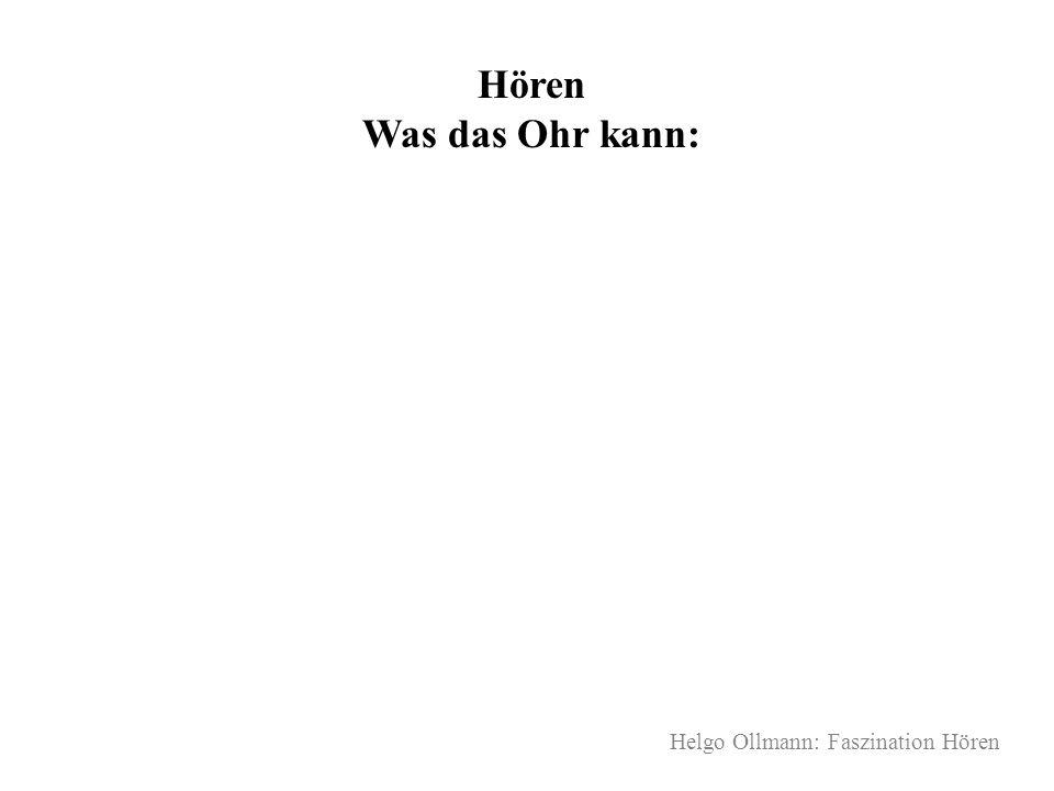 Helgo Ollmann: Faszination Hören Hören Was das Ohr kann: