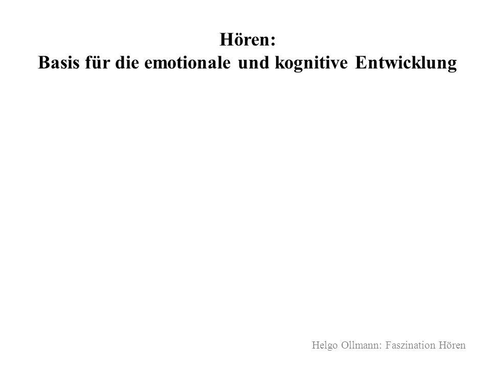 Helgo Ollmann: Faszination Hören Hören: Basis für die emotionale und kognitive Entwicklung