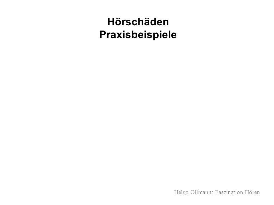 Helgo Ollmann: Faszination Hören Hörschäden Praxisbeispiele