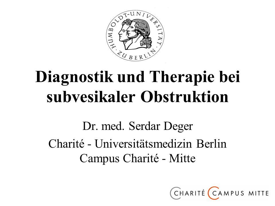 Diagnostik und Therapie bei subvesikaler Obstruktion Dr.