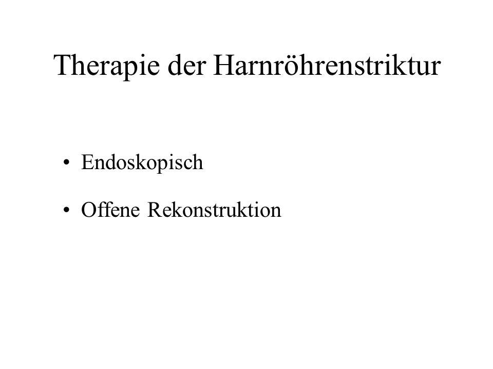 Therapie der Harnröhrenstriktur Endoskopisch Offene Rekonstruktion