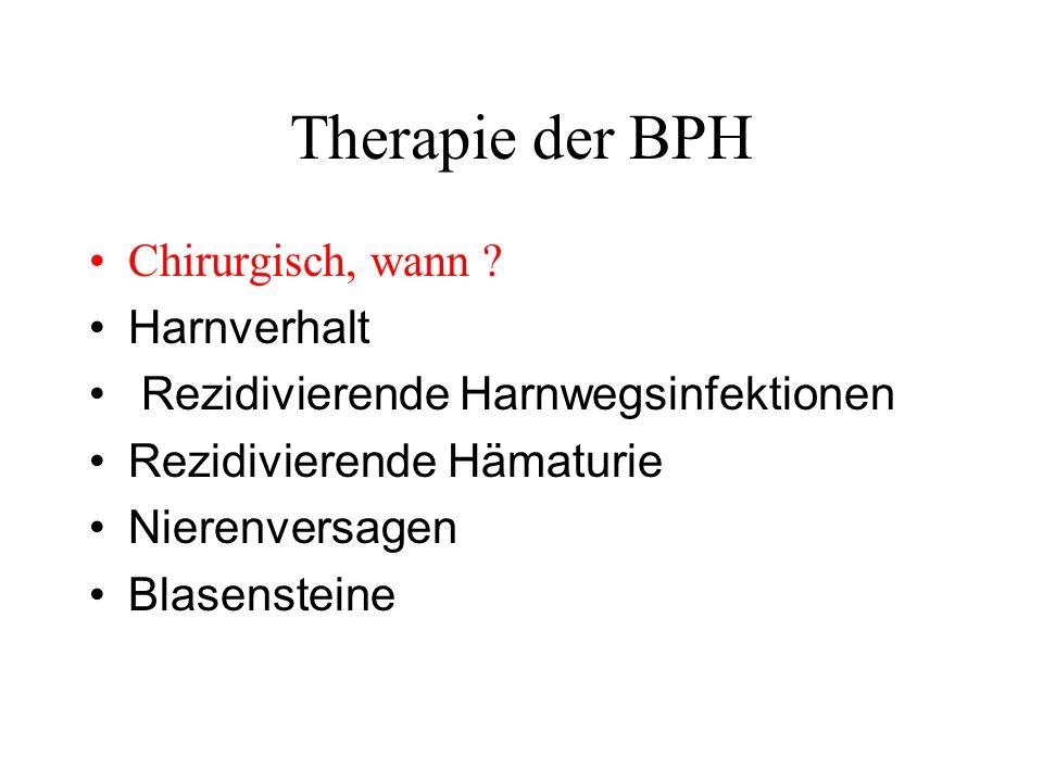 Therapie der BPH Chirurgisch, wann .