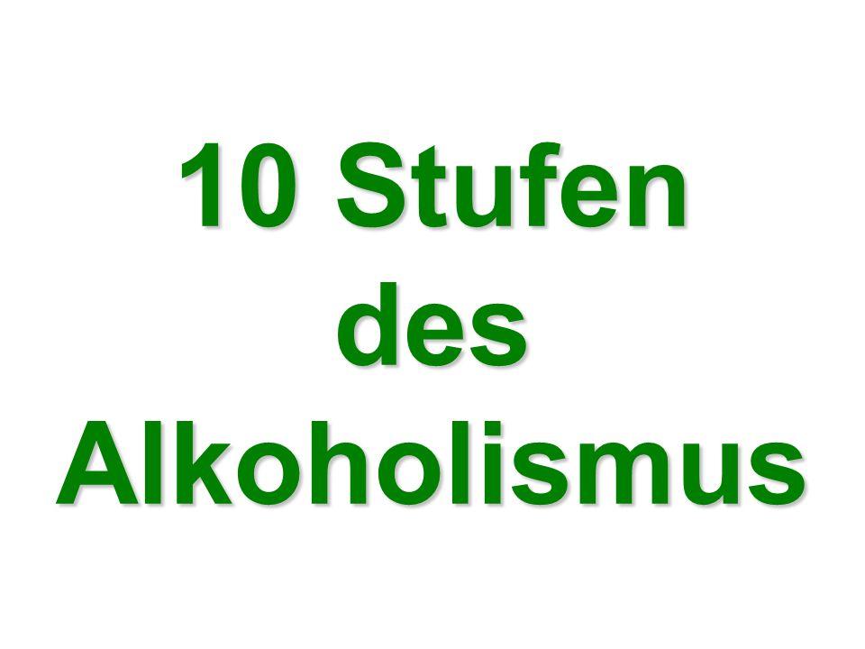 10 Stufen des Alkoholismus