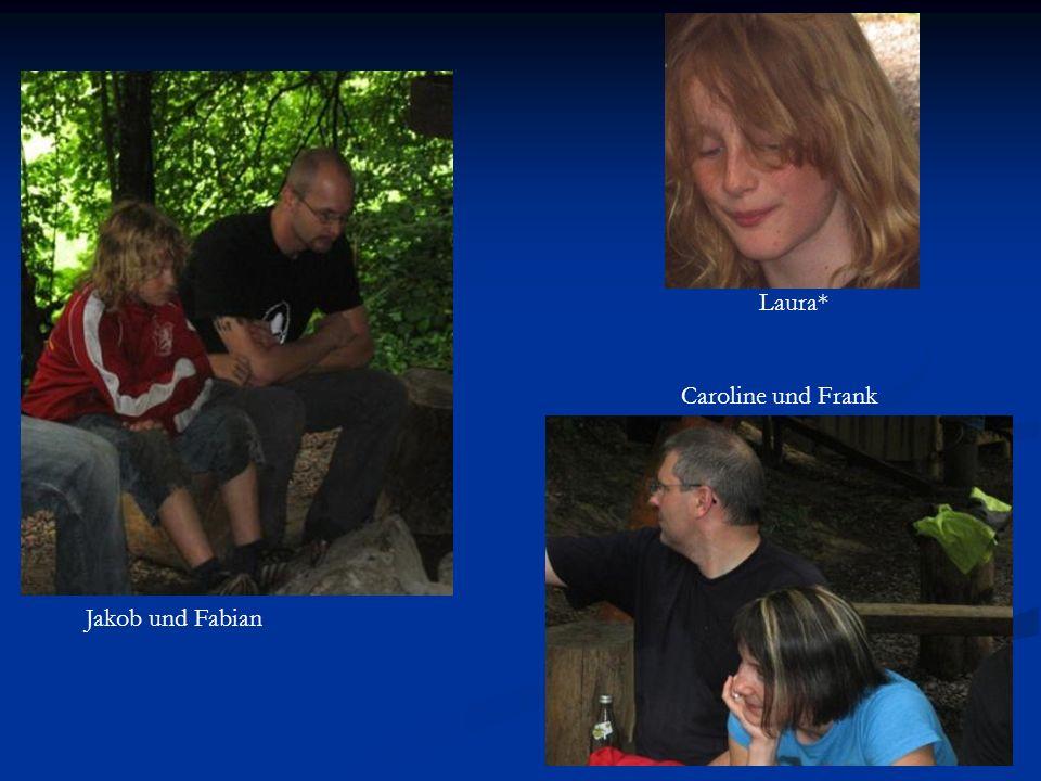 Jakob und Fabian Laura* Caroline und Frank