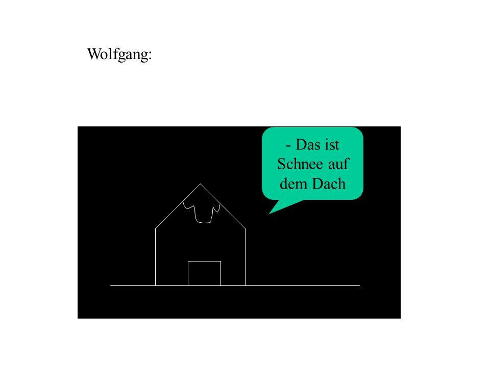 - Das ist Schnee auf dem Dach Wolfgang:
