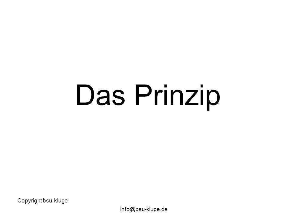 Copyright bsu-kluge info@bsu-kluge.de Das Prinzip