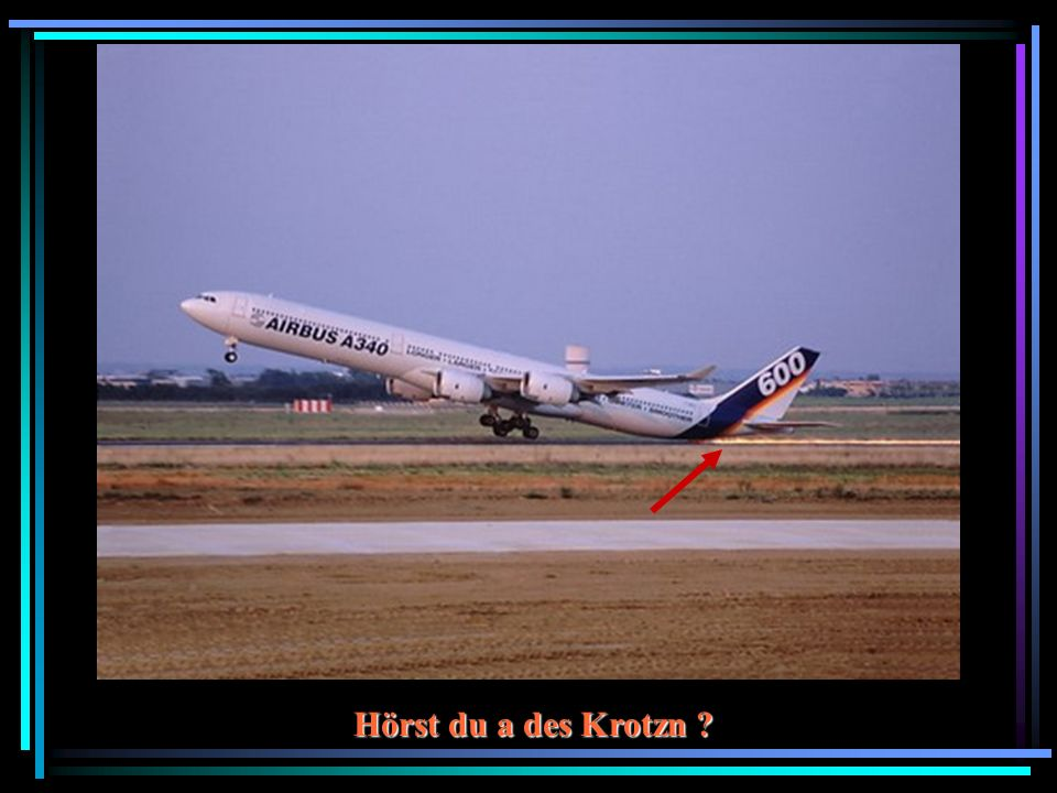 Achtung ! Flugzeuge kreuzen !