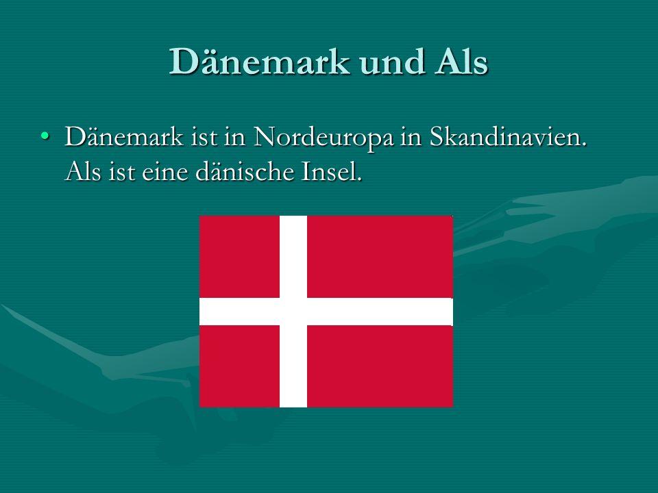 Dänemark und Als Dänemark ist in Nordeuropa in Skandinavien.
