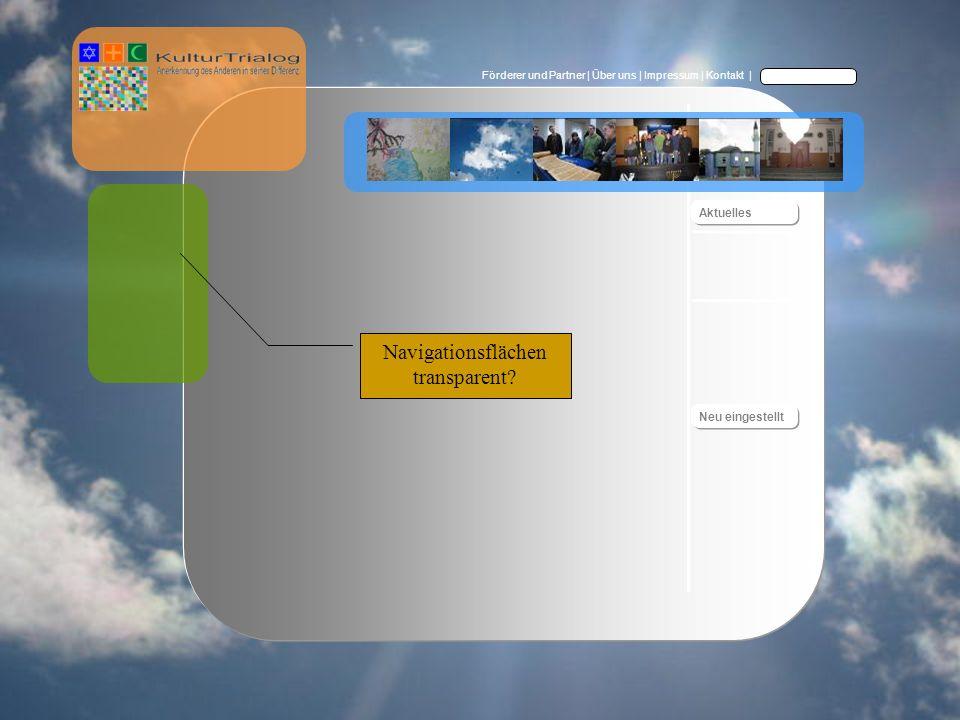 Förderer und Partner | Über uns | Impressum | Kontakt | Navigationsflächen transparent.