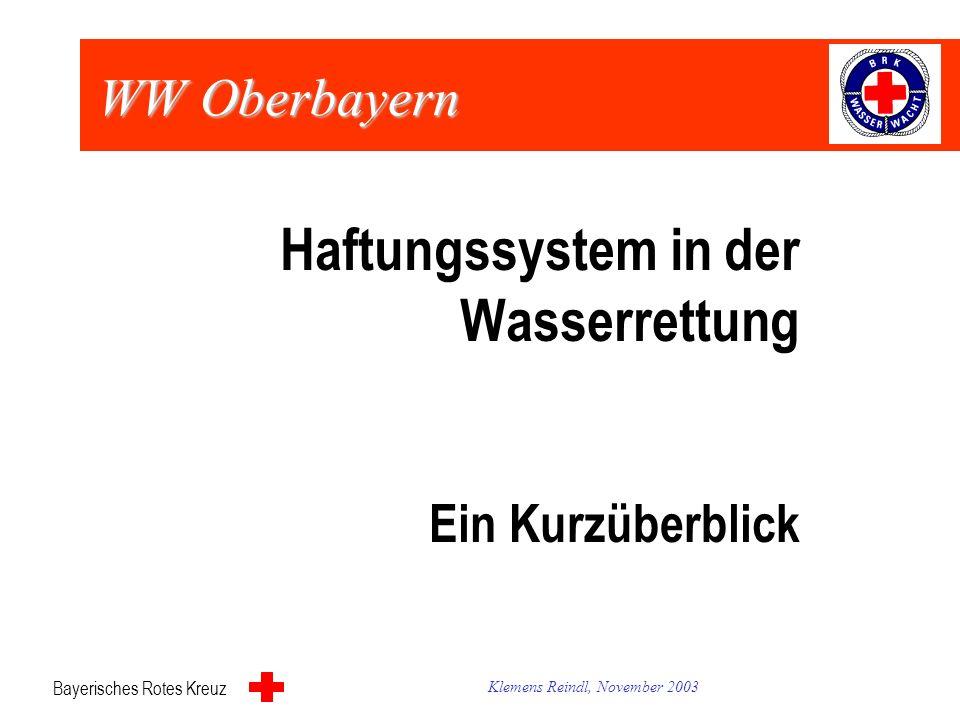 Bayerisches Rotes Kreuz Wasserwacht Oberbayern Gemeinsame Tagung Bezirksleitung und Kreiswasserwachten