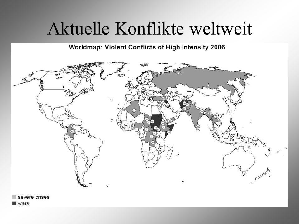 Aktuelle Konflikte weltweit