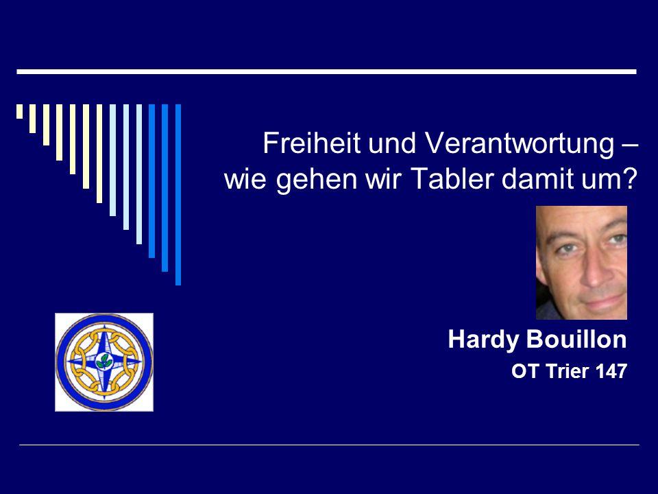 Freiheit und Verantwortung – wie gehen wir Tabler damit um? Hardy Bouillon OT Trier 147