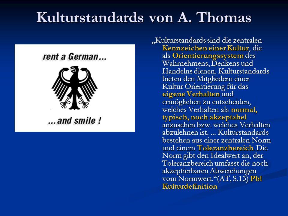 Kulturstandards von A.