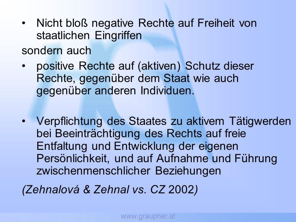 Landesgericht Feldkirch (08.01.2002) Hiv-positiver mit Speichenschaftbruch und leicht blutender Exkoriation am li Daumen Krankenhaus Bregenz (Unfallambulanz) Schmerzstillende Spritze -> größere Blutung (an Einstichstelle) KH-Angestellter positionierte Arm für Röntgen & legte Gipsverband an (ohne Schutzhandschuhe) KH-Personal nicht über Hiv-Status informiert erfuhr durch Zufall von Hiv-Status des Patienten PEP -> 2 ½ Monate in Krankenstand Klage: EUR 178,24 Zulagenverlust & EUR 3.270,28 Schmerzengeld (Nebenwirkungen der PEP) BG Bregenz: ¾ zugesprochen (1/4 Mitverschulden)