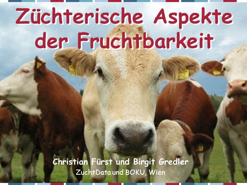 ZAR-Seminar 2006 – Christian Fürst Gesamtzuchtwert MilchFleischFitnessExterieur Frucht- barkeit (pat+mat) Fleckvieh39,316,444,30,08,9 Braunvieh48,05,047,00,09,8 Holstein50,00,035,015,01,3 Pinzgauer36,014,349,60,07,5 Grauvieh36,116,347,70,08,2