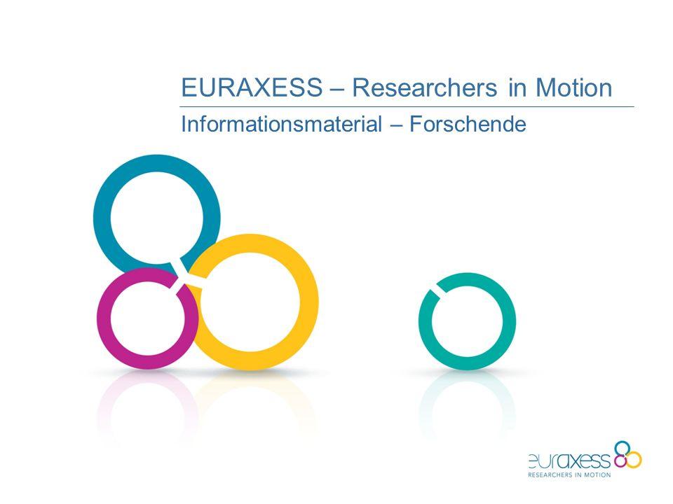 EURAXESS – Researchers in Motion Informationsmaterial – Forschende