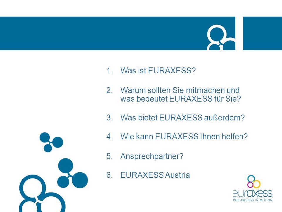 1.Was ist EURAXESS.2.Warum sollten Sie mitmachen und was bedeutet EURAXESS für Sie.