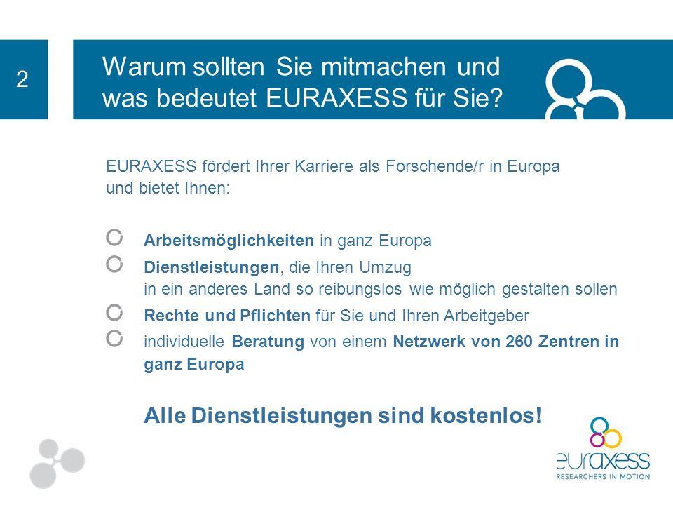 Warum sollten Sie mitmachen und was bedeutet EURAXESS für Sie? 2