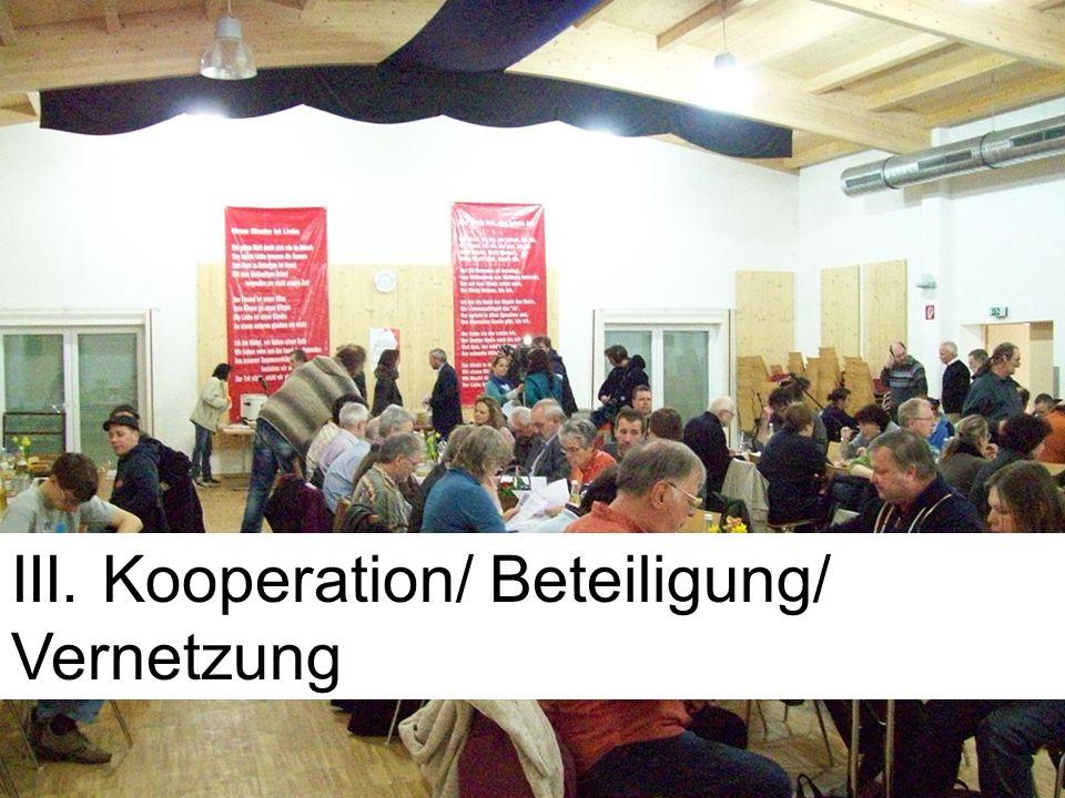 III. Kooperation/ Beteiligung/ Vernetzung