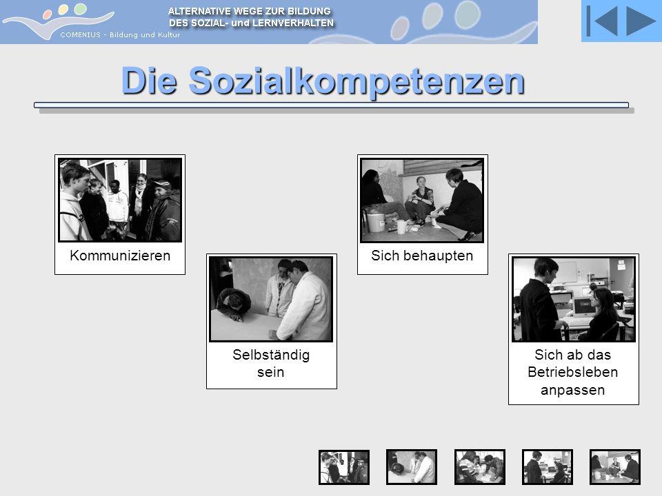 Kommunizieren Die Sozialkompetenzen Sich behauptenSich ab das Betriebsleben anpassen Selbständig sein