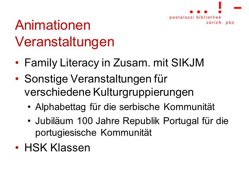 Animationen Veranstaltungen Family Literacy in Zusam. mit SIKJM Sonstige Veranstaltungen für verschiedene Kulturgruppierungen Alphabettag für die serb