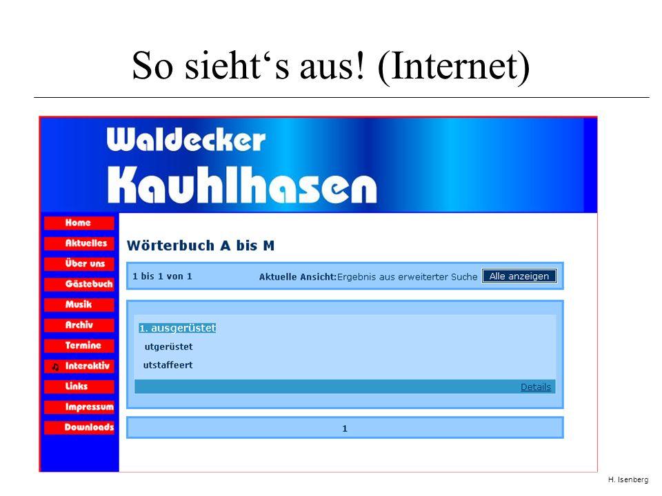 H.Isenberg Was ist unser Ziel.