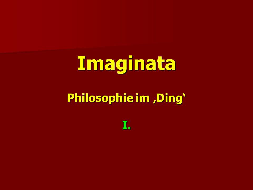 Imaginata Philosophie im Ding I.