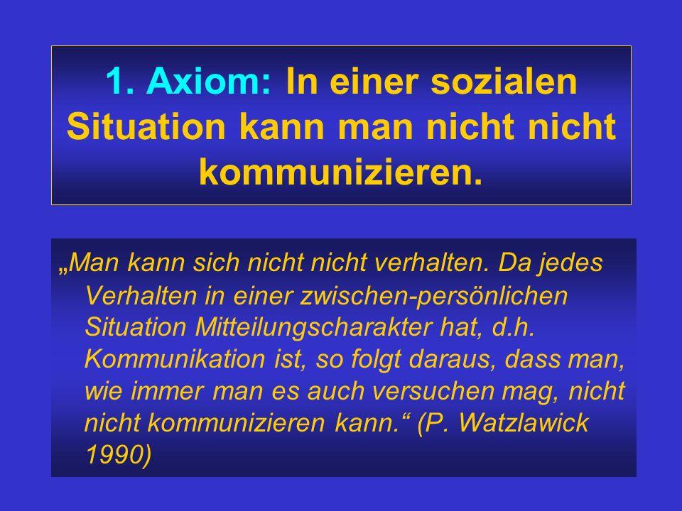 Grundeigenschaften menschlicher Kommunikation 1967: Fünf meta- kommunikative Axiome Paul Watzlawick *1921