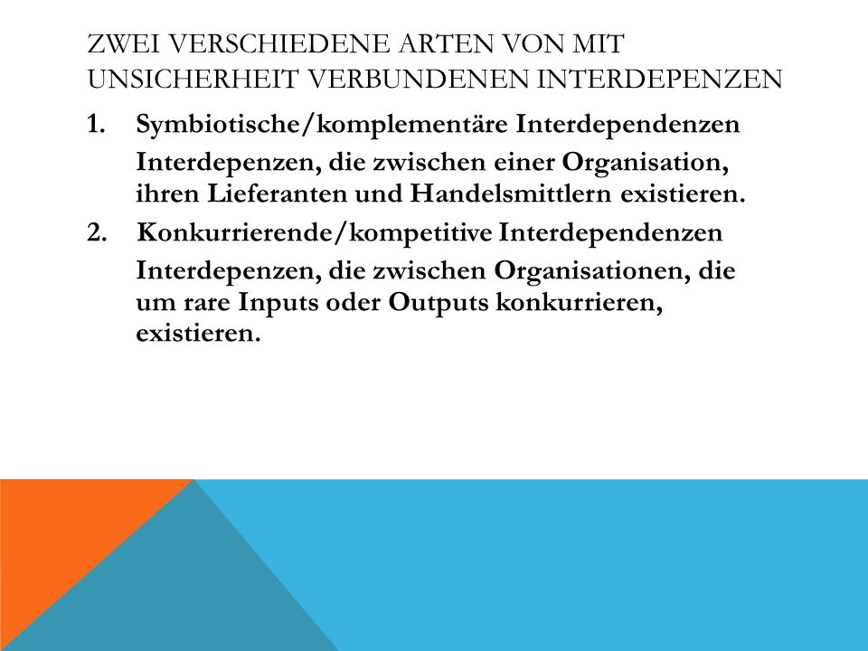 ZENTRALE EIGENSCHAFT DER TRANSAKTIONSKOSTENTHEORIE Die Spezifität der Transaktionskosten.