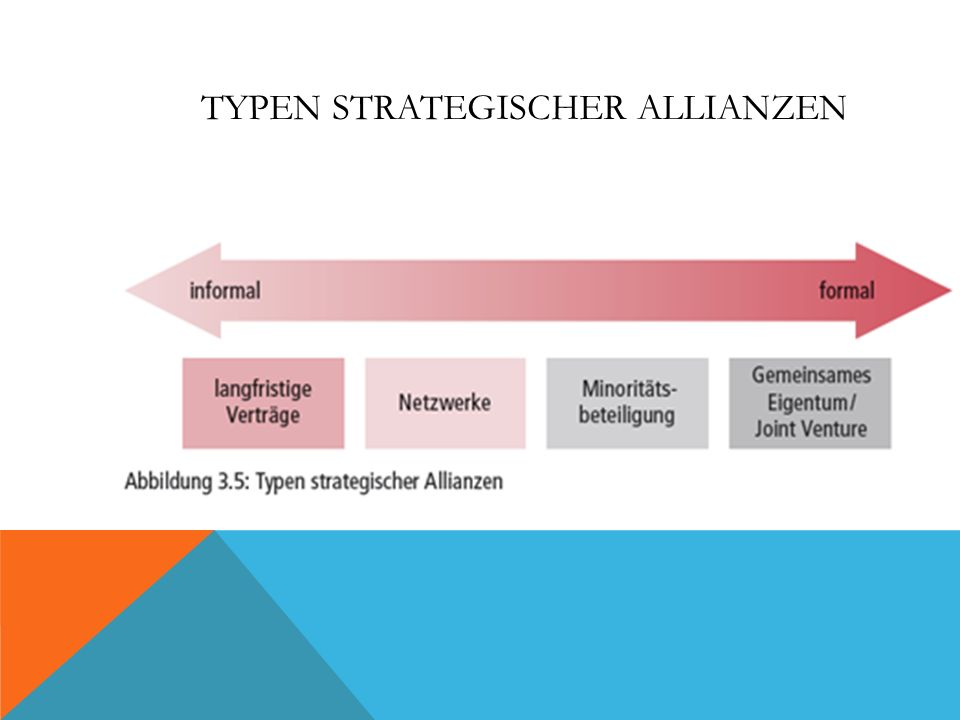 TYPEN STRATEGISCHER ALLIANZEN