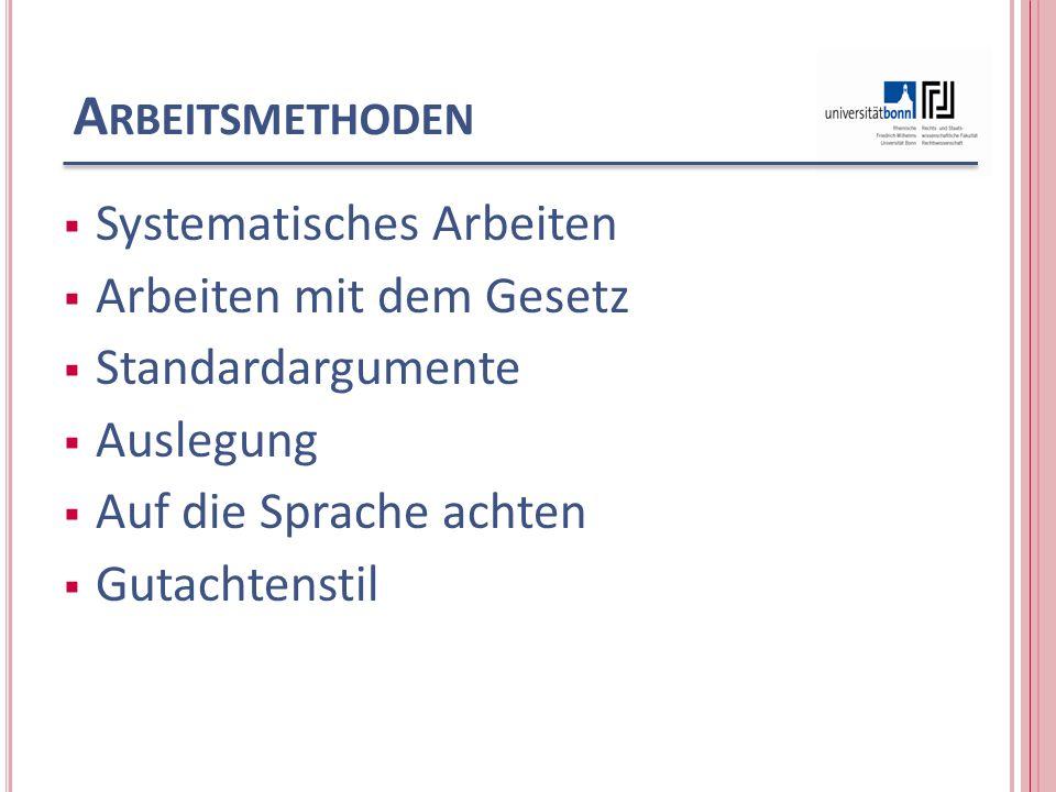 S YSTEMATISCHES A RBEITEN Zivilrecht: System der Ansprüche, (Download: http://www.jura.uni- bonn.de/index.php?id=5657 Einwendungen Einreden