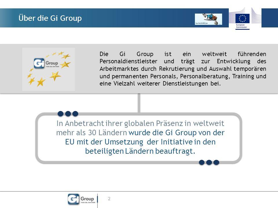 Über die Gi Group 2 Die Gi Group ist ein weltweit führenden Personaldienstleister und trägt zur Entwicklung des Arbeitmarktes durch Rekrutierung und A