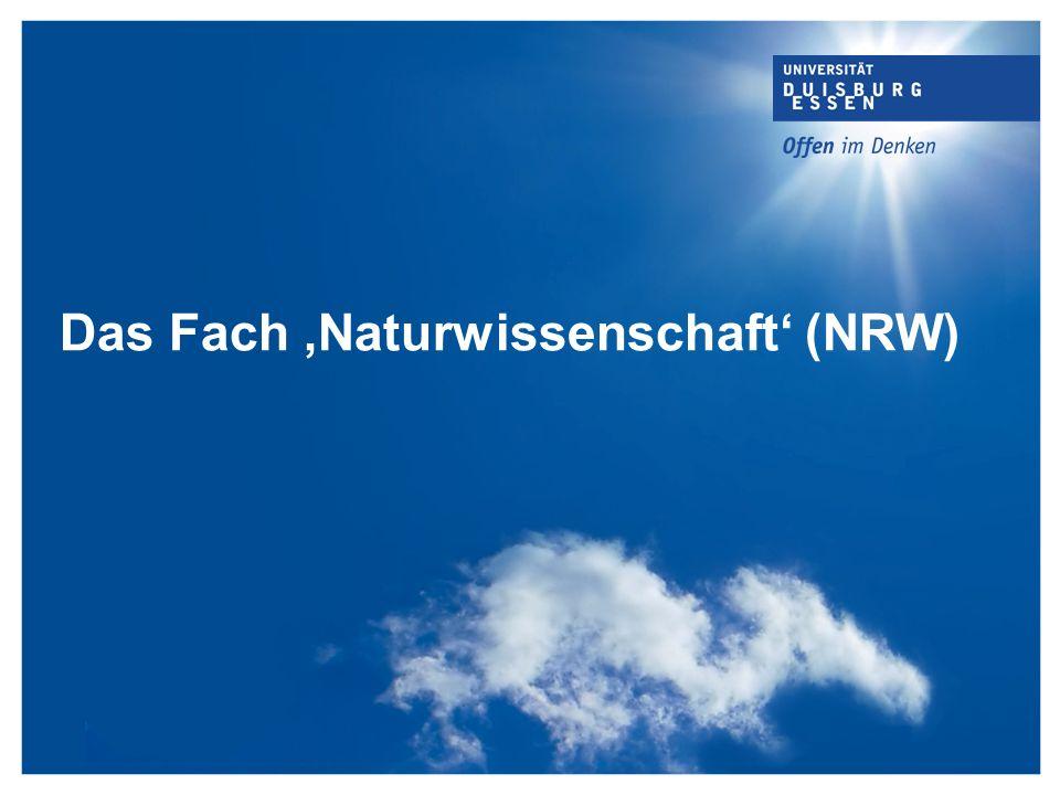 Das Fach,Naturwissenschaft (NRW)