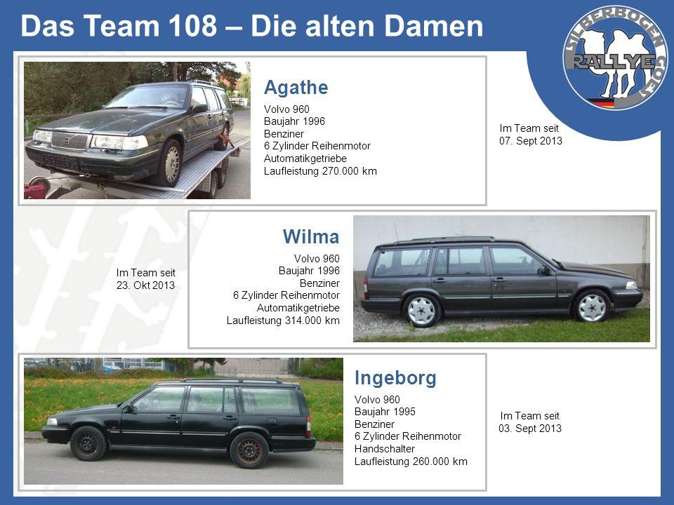 Das Team 108 – Die alten Damen Ingeborg Volvo 960 Baujahr 1995 Benziner 6 Zylinder Reihenmotor Handschalter Laufleistung 260.000 km Im Team seit 03. S