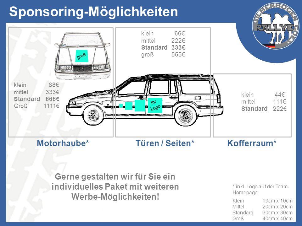 Ihr Logo Sponsoring-Möglichkeiten klein 66 mittel222 Standard333 groß555 Gerne gestalten wir für Sie ein individuelles Paket mit weiteren Werbe-Möglic