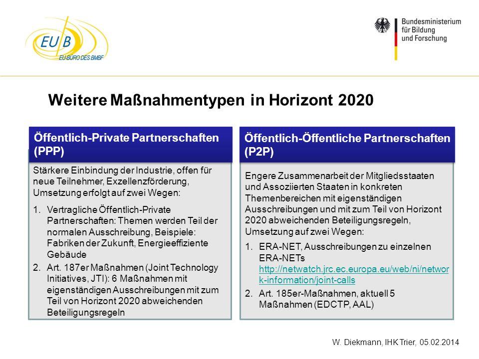 W. Diekmann, IHK Trier, 05.02.2014 Stärkere Einbindung der Industrie, offen für neue Teilnehmer, Exzellenzförderung, Umsetzung erfolgt auf zwei Wegen: