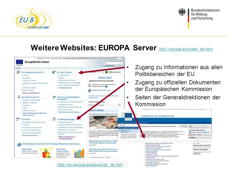 W. Diekmann, IHK Trier, 05.02.2014 Weitere Websites: EUROPA Server http://europa.eu/index_de.htm http://europa.eu/index_de.htm Zugang zu Informationen