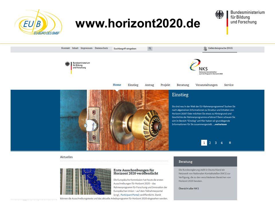 W. Diekmann, IHK Trier, 05.02.2014 www.horizont2020.de