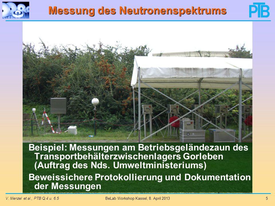 Ergebnis der Eingabe V. Menzel et al., PTB Q.4 u. 6.516 BeLab Workshop Kassel, 8. April 2013