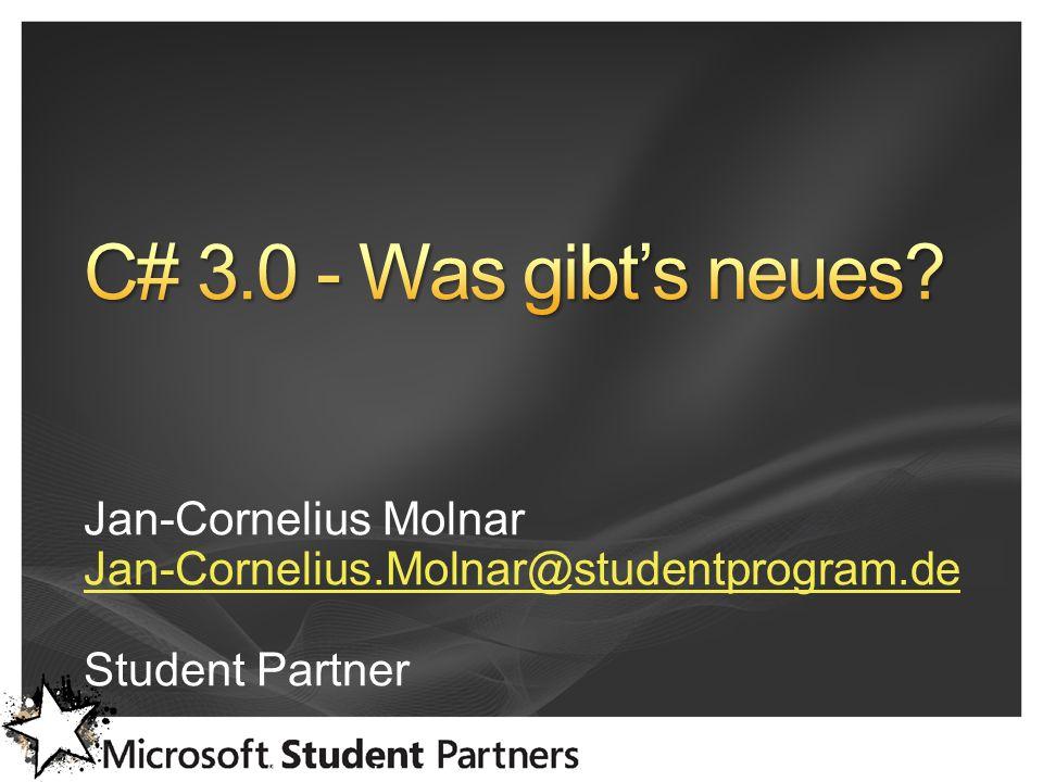 www.dnug-koeln.de www.justcommunity.de Jan-Cornelius Molnar Jan-Cornelius.Molnar@studentprogram.de Student Partner