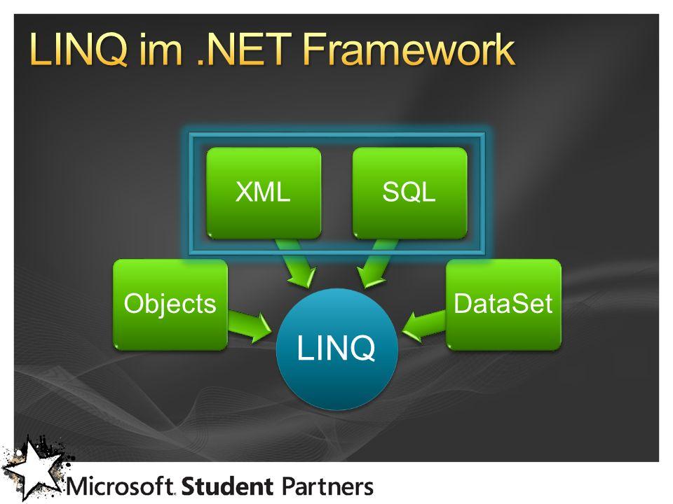 LINQ ObjectsXMLSQLDataSet