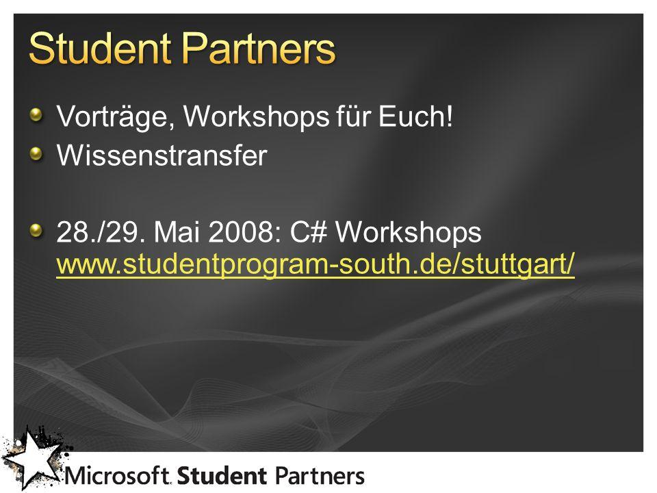 Vorträge, Workshops für Euch. Wissenstransfer 28./29.