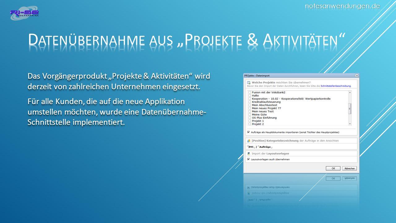 Das Vorgängerprodukt Projekte & Aktivitäten wird derzeit von zahlreichen Unternehmen eingesetzt.