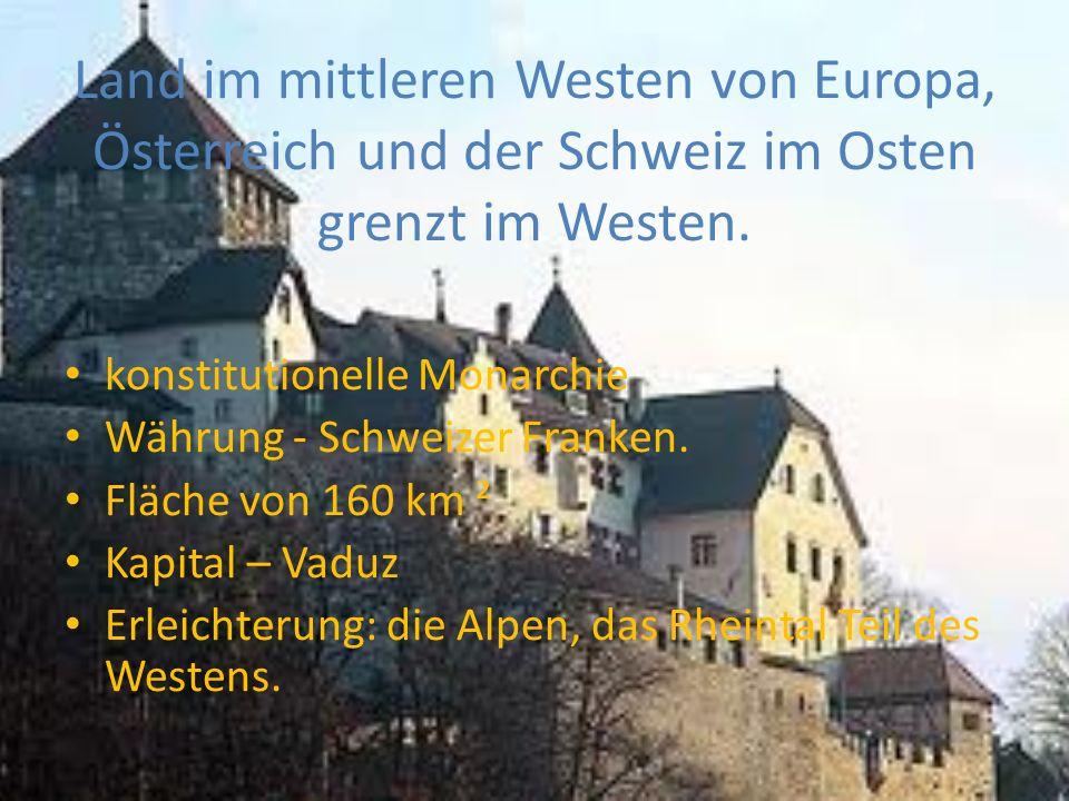 Land im mittleren Westen von Europa, Österreich und der Schweiz im Osten grenzt im Westen.