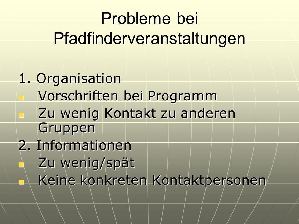 Probleme bei Pfadfinderveranstaltungen 1.