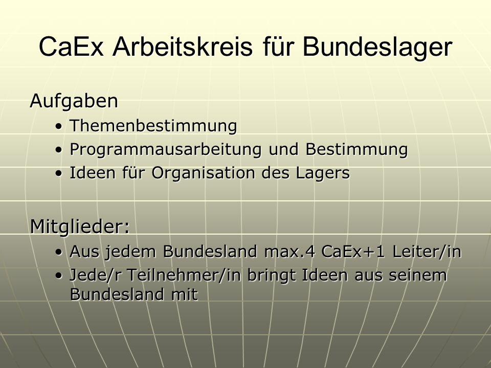 Sonstige Ideen Österreichischer Koch-PWK Einführung von CaEx und RaRo Arbeitskreisen Leichterer Kontakt zu anderen Gruppen mit gleichen Interessen Ein Europaforum