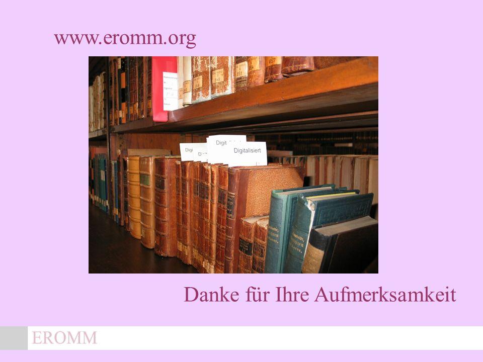 x Danke für Ihre Aufmerksamkeit www.eromm.org